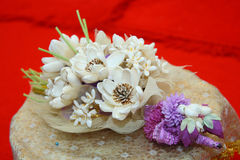 The artificial bouquet for thai cremation ceremony (dok mai chan Royalty Free Stock Images