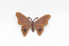 Artificial brown butterfly Royalty Free Stock Images
