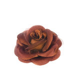 Artificial brown flower isolated on white Royalty Free Stock Images