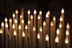 Artificial candles, Cathedral of Pisa Royalty Free Stock Photography