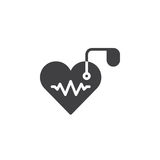 Artificial cardiac pacemaker icon vector, filled flat sign, solid pictogram isolated on white. Symbol, logo illustration. Pixel perfect stock illustration
