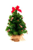 Artificial christmas pine tree. Isolated on white background Royalty Free Stock Image