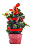 Artificial christmas tree Stock Image