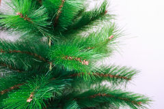 Artificial Christmas tree branches. Background of artificial Christmas tree branches. Royalty Free Stock Image