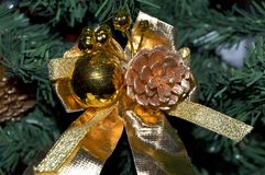 Artificial Christmas tree decorations royalty free stock images
