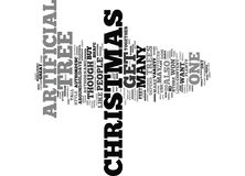 Artificial Christmas Trees Word Cloud Concept Royalty Free Stock Image