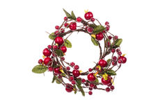 Artificial Christmas wreath. On isolated background Stock Image