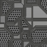 Artificial circuit board illustration Royalty Free Stock Image