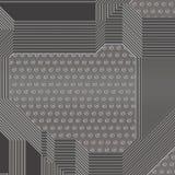 Artificial circuit board illustration Stock Photo