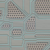 Artificial circuit board illustration Stock Image