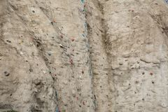 Artificial climbing rock-textured  wall Stock Photos