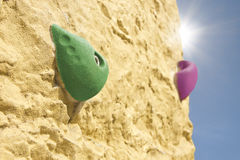Artificial climbing wall Royalty Free Stock Image