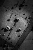 Artificial climbing wall. Hand and Foot Holds on a Rock Climbing Wall Royalty Free Stock Image