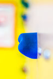 Artificial climbing wall  in indoor children's playground Royalty Free Stock Images