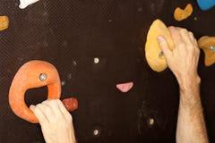 Artificial climbing wall Stock Photos