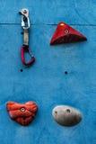 Artificial climbing wall  v1. Artificial climbing wall  Climbing wall for practicing  Climber Royalty Free Stock Photos