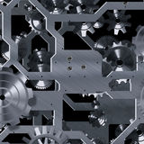 Artificial clock mechanism Royalty Free Stock Image