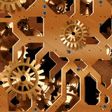 Artificial clock mechanism Royalty Free Stock Images