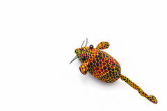 Artificial colorful of animal made from cloth. Artificial colorful of animal made from cloth on white background Stock Photos
