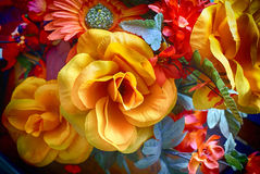 Artificial colorful flowers Stock Images