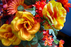 Artificial colorful flowers Royalty Free Stock Photo