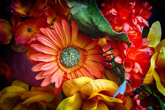 Artificial colorful flowers Royalty Free Stock Image