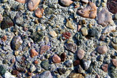 Artificial conglomerate rock concrete Royalty Free Stock Images