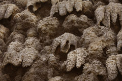 Artificial creation of stalactite wall Wallenstein Garden Royalty Free Stock Photography