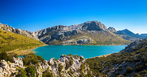 The artificial Cuber lake in the Sierra de Tramuntana Stock Photography