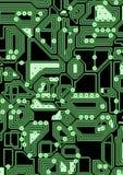 Artificial cyber circuit illustration Stock Photos