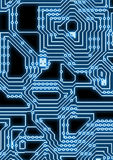 Artificial cyber circuit illustration Royalty Free Stock Photos