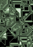 Artificial cyber circuit illustration Royalty Free Stock Images