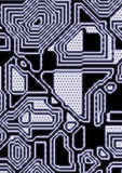 Artificial cyber circuit illustration Royalty Free Stock Image
