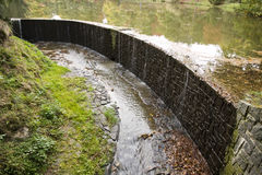 Artificial dam Stock Image