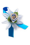 Artificial dark blue flower Royalty Free Stock Images