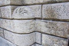 Artificial decorative stone facade. Texture - artificial decorative stone facade Royalty Free Stock Photos