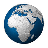 Artificial Earth - Africa Royalty Free Stock Photos