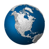 Artificial Earth - North America Royalty Free Stock Images