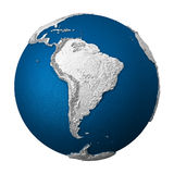 Artificial Earth - South America Stock Photography