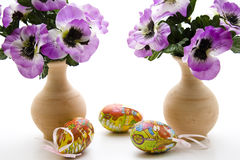 Artificial Easter eggs with loop Stock Photo