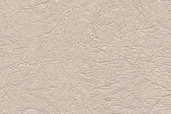 Artificial Eco Leather Beige Crumpled Texture Sample Royalty Free Stock Images