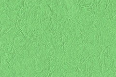 Artificial Eco Leather Kelly Green Crumpled Texture Sample Stock Photography