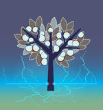 Artificial electrical tree stock illustration