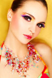 Artificial Eyelashes Stock Image