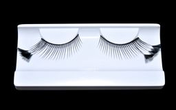 Artificial eyelashes with feather Royalty Free Stock Image