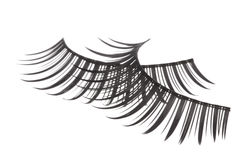 Artificial Eyelashes Isolated Stock Photo