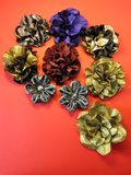 Artificial fabric flowers Royalty Free Stock Image