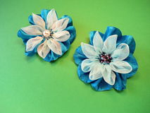 Artificial fabric flowers Royalty Free Stock Photos
