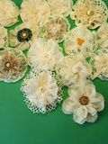 Artificial fabric flowers Stock Image