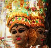 Artificial face structure. Click by me at durga puja in kolkata,india Stock Photo